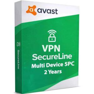 Avast SecureLine VPN 5 Device 2 Year